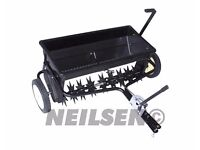 Neilsen CT2210 100lbs Towed drop spreader with seed spikes