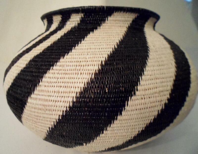 Wounaan Embera Woven Classic Design Basket-Panama 21031706mm