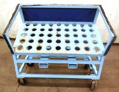 Tool Holder Storage Rack 45 Slots 48-12 X 27 X 48 Steel Frame