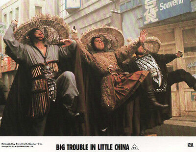 John Carpenter's BIG TROUBLE IN LITTLE CHINA lobby card  KURT RUSSELL