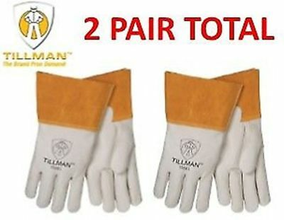 Tillman 1350 Pearl Top Grain Cowhide Mig Welders Gloves 2 Pair Sizes Mlxl