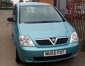 Cheap Vauxhall Meriva, 4 doors, 1.4cc engine, long MOT, very good condition.
