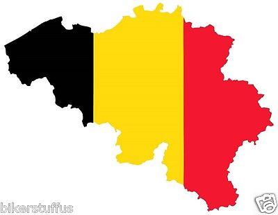 BELGIUM  SILHOUETTE STATE MAP FLAG SHAPE BUMPER STICKER LAPTOP STICKER