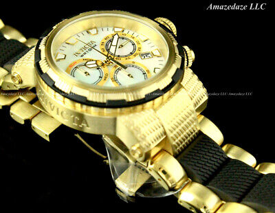 NEW Invicta Men's Stainless Steel Swiss Chronograph Capsule White MOP Dial Watch