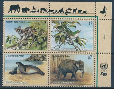 [325519] United Nations 1994 Wild animals good Set very fine MNH Stamps
