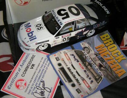Peter Brock Thomas Mezera 1995 VR Bathurst Commodore signed COA@ Dutton Park Brisbane South West Preview