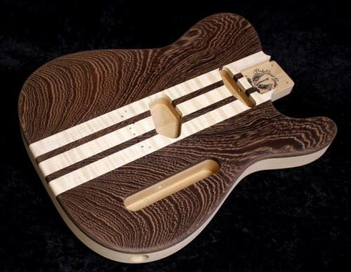 Telecaster Body • Flame Maple • Wenge • Alder  / Tele Guitar Body / Pre-Order