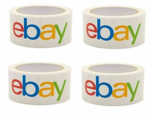 """4 Rolls Official Classic eBay Branded Packaging Tape Multi-Pack 2"""" x 75 yards"""