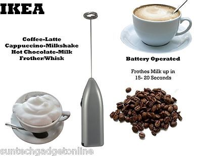 IKEA Produkt Coffee Latte Hot Chocolate Milk Frother Whisk Frothy Blend Mixer