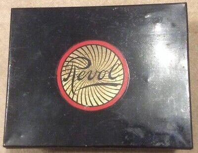 Vintage Unusual Divided Revol Metal Tin / Box Details Of Manufacturer Unknown