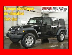 2015 Jeep Wrangler Unlimited Sport *A/C,Mags,Toit dur,Bluetooth