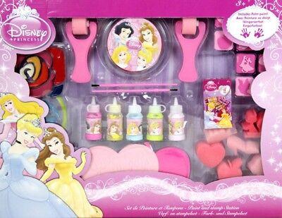 Disney Princess Farb- und Stempelset Fingerfarben Fingerfarbset Figurenschwämme