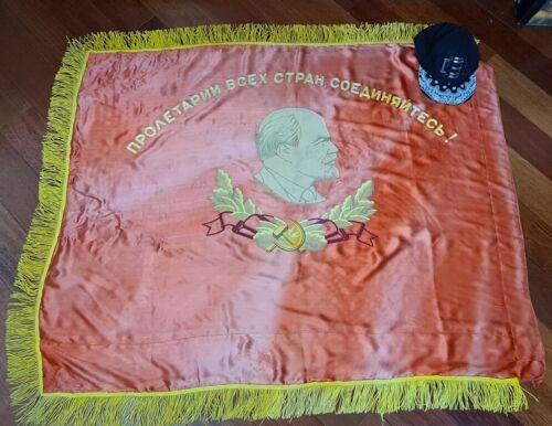Big VNT Russian Soviet Lenin Karl Marx flag banner USSR Propaganda