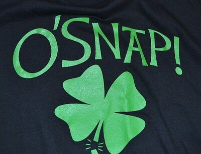 O'Snap! Shamrock Irish St Patricks Day Adult T-Shirt Green Day Fifth Sun Apparel