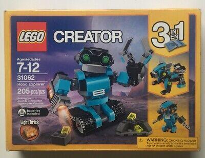 Lego 31062 Creator 3-in-1 Robo Explorer 31062 (205 pcs) New in Sealed Box