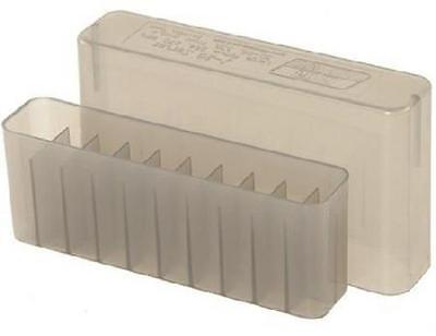 Slip Top Ammo Box - MTM Case-Gard Slip Top Ammunition Ammo Storage Box 20 Rounds J-20-M Clear Smoke