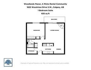One Bedroom Suites Woodlands Manor for Rent - 1825 Woodview... Calgary Alberta image 9