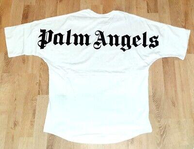 GR.M Palm Angels T-Shirt Weiss Logo Print Oversize