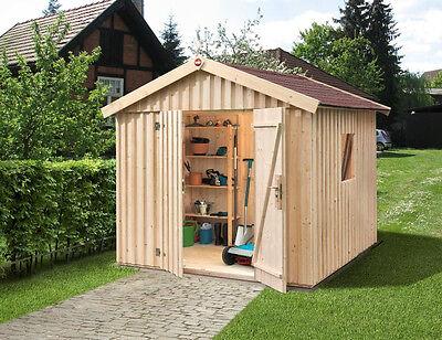 Schwedenhaus farben bedeutung  Weka Gartenhaus Schwedenhaus Gr.3, sägerauh, natur, 240 x 246 cm