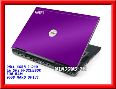 "Cheap fast Purple dell laptop Windows 10 DVD Core 2 Duo Wifi dvd 14.1"" Lcd"