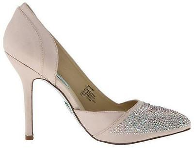 Women's Shoes Blue by Betsey Johnson BAND Special Occasion Rhinestones CHAMPAGNE - Blue Occasion Shoes
