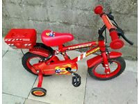 "Apollo FireChief Rescue 12"" Bike With Stabilisers"