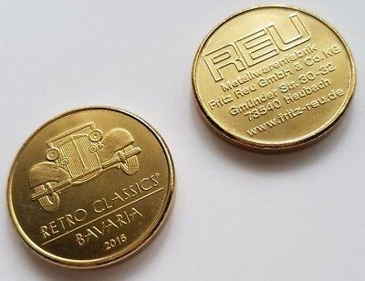 2 Stück Medaille - Prägung - 1. Retro Classics Bavaria - Nürnberg 2016  - Münze