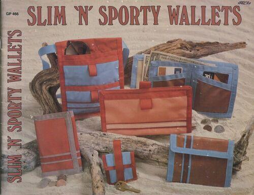 80s Vtg 12 Sport Wallet Slim-N-Sporty Hook+Loop Closure Sewing Pattern Gick 466