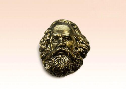 Badge Brooch Karl Heinrich Marx Capital Das Kapital Pin Bronze