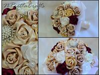Satin wedding bouquets