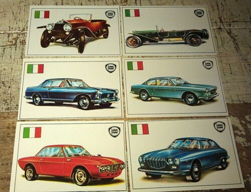 LANCIA  - Famous Cars by Top Sellers Ltd UK Trade Cards RARE