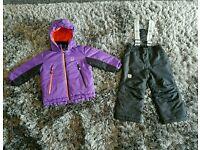 Girls ski / winter coat and pants age 2 - 3