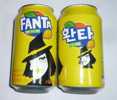 FANTA can SOUTH KOREA 355ml LEMON Coca Cola HALLOWEEN Design 2018 Coca Cola Asia