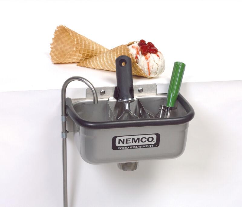 "Nemco 77316-10 Spadewell 10"" Ice Cream Dipper Station"