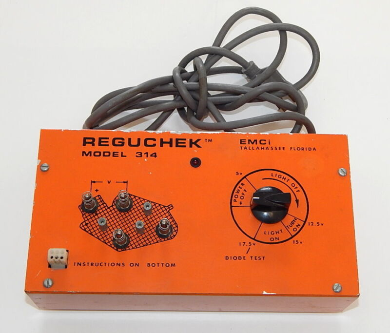 EMCi Reguchek Model 314 Diode Test Regulator Check R8656