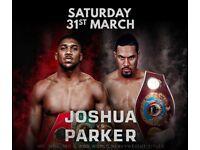 **3x Great seats, Joshua vs Parker Fight, Cardiff, Tickets x3 inc. coach travel from London**