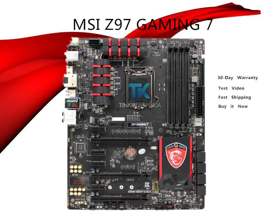 MSI Z97 GAMING 7 LGA 1150 DDR3 SATA USB3.1 Intel Z97 ATX HDMI Motherboard