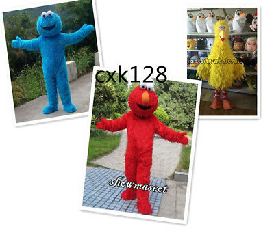 Sesame Street Big Bird Elmo Cookie Mascot Costume Cosplay Party Fancy Dress Gift
