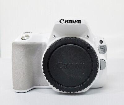 Canon EOS 200D Rebel SL2 24.2 MP DSLR Camera White SLR BODY ONLY