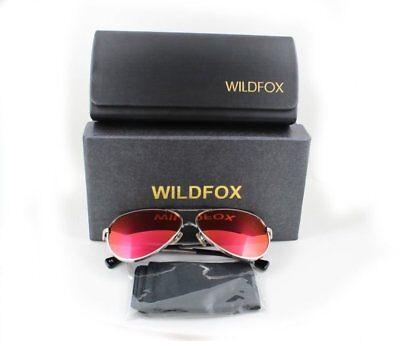 Wildfox Airfox II Deluxe Sunglasses Silver Aviator Pink Mirror Orig. Accessories