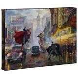 Thomas Kinkade DC Batman, Superman, Wonder Woman 10 x 14 Gallery Wrap Canvas