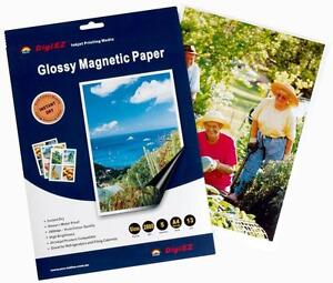 Magnetic Photo Paper Glossy DigiEZ 50 sheets ( 10 x 5 sheet packs )