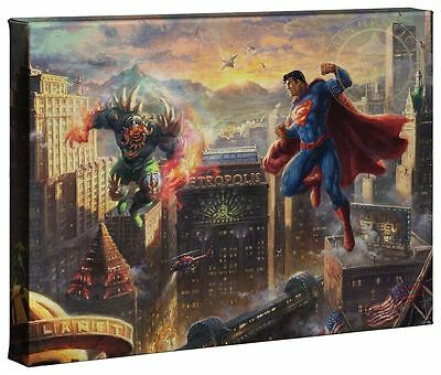 Thomas Kinkade Superman Man of Steel 10 x 14 Gallery Wrap Canvas DC Art