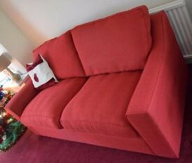 10 MONTH OLD 3 SEATER SOFA (RED)