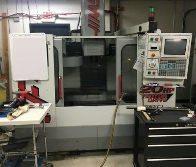 1999 Haas Vf-2 Vmc With Gearbox Pcool Chip Auger More.