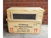 IATA Air Cargo approved flight compliant pet shipping crate (two of)
