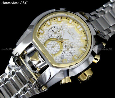 NEW Invicta Men's Bolt Zeus Magnum Chronograph 52mm Stainless Steel Watch !!