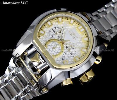 NEW Invicta Men's Bolt Zeus Magnum Chronograph 52mm Stainless Steel Watch !!