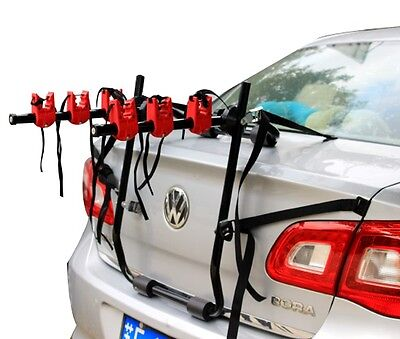 BIKE CAR CYCLE CARRIER RACK UNIVERSAL FITTING SALOON ESTATE 3 BICYCLE FREE STRAP