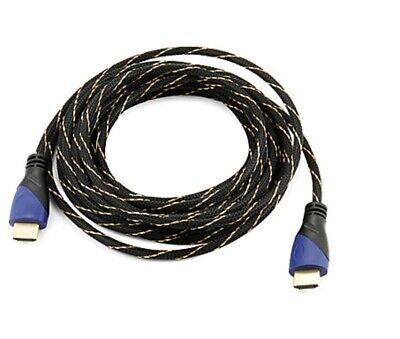 Cable Trenzado Doble HDMI 1.8M largo Macho-Macho HDTV PS4 PS3 Xbox 360...